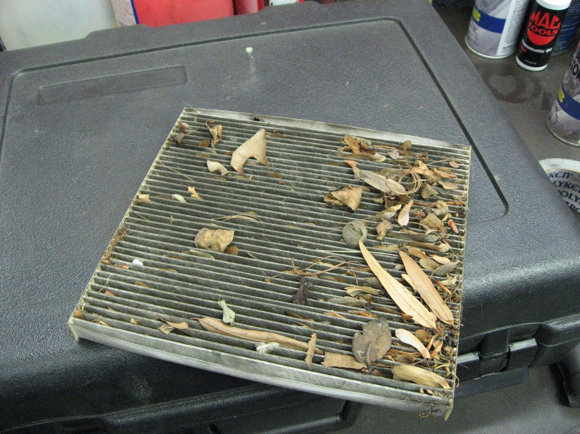 A very dirty cabin air filter